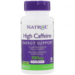 Natrol Hi Caffeine 200 mg 100 таб