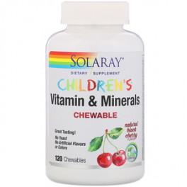 Solaray Детские жевательные витамины и минералы 120 таб